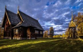 Wallpaper Church, Sweden, Kvikkjokk
