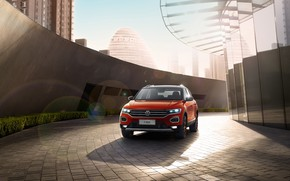 Picture Volkswagen, front view, 2018, crossover, 4Motion, T-Roc