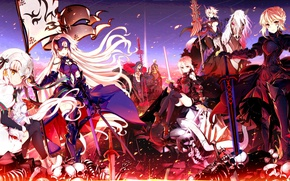 Wallpaper girls, the sky, fate/grand order, smile, joan of arc, arturia pendragon alter, heroine x age, ...