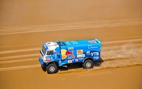 Picture The sky, Sand, Nature, Sport, Speed, Race, Master, Beauty, Russia, 307, Kamaz, Rally, Rally, KAMAZ, …