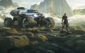 Picture fiction, woman, people, the suit, art, rover, Rover