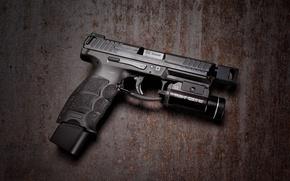 Picture macro, gun, background, HK VP9