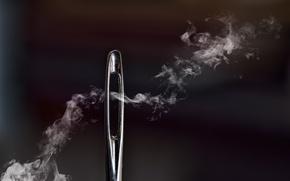 Picture macro, smoke, needle