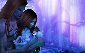 Picture tree, baby, family, art, avatar, fantasy