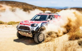 Picture Sand, Mini, Dust, Speed, Race, Rally, SUV, Rally, 202, X-Raid Team, MINI Cooper, X-Raid, X ...