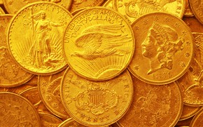 Picture gold, dollar, USA, coins