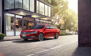 Picture Red, Volkswagen, Car, Metallic, Lavida, 2015-17