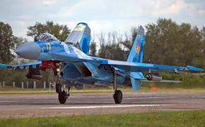 Wallpaper Su-27, Sukhoi, the fourth generation fighter, Air force Kazakhstan, Soviet/Russian multirole all-weather