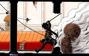 Picture wall, skeleton, destruction, the battle, evaporation, Shingeki no Kyojin, Eren Yeager, The Invasion Of The ...