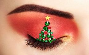 Picture girl, macro, Oleg Gekman, makeover christmas tree