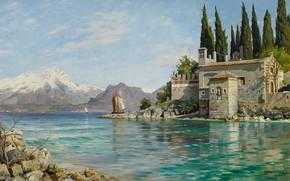 Picture 1909, Danish painter, Peter Merk Of Menstad, Peder Mørk Mønsted, Danish realist painter, First spring …