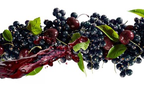 Picture cherry, juice, currants