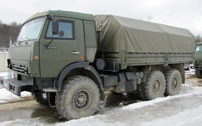 Picture Truck, KamAZ-5350, Military Vehicle