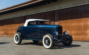 Wallpaper Roadster, Classic, American, Hot-Rod, 1932, Ford