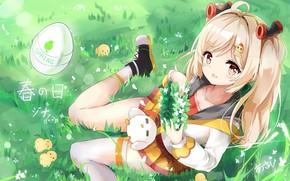 Picture kawaii, girl, anime, pretty, blonde, japanese