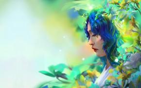 Picture girl, fantasy, fantasy portrait, Trung Tin Shinji