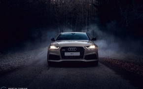 Picture audi, night, rs6