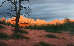 Picture landscape, nature, picture, Alexander Volkov, Sunset in Sedona