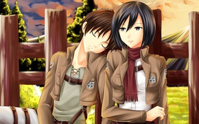 Picture anime, art, Shingeki no Kyojin, Eren Yeager, Attack of the titans, The invasion of the …
