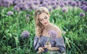 Picture flower, girl, nature, hair, makeup, hairstyle, blonde, in Durban