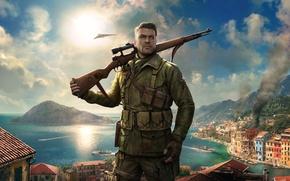 Wallpaper Sniper, Game, Sniper Elite 4