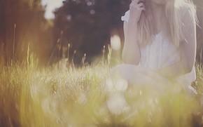 Picture summer, girl, nature, by gloeckchen