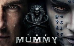 Wallpaper cinema, film, Egypt, monster, The Mummy, eyes, tatoo, movie, bakemono, Ton Cruise, sarcophagus, Sofia Boutella, ...