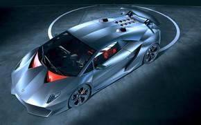 Picture machine, background, Lamborghini, Sesto Elemento, silver car