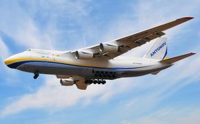 Picture The sky, The plane, Wings, Engines, Ukraine, Soviet, An-124, Ruslan, Antonov, Huge, 400, Antonov, Condor, …