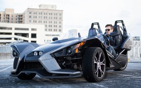 Picture style, man, comfort, hi-tech, Polaris, Slingshot, technology, sporty, tricycle