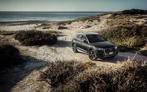 Picture sand, sea, beach, Audi, Audi, quattro, crossover