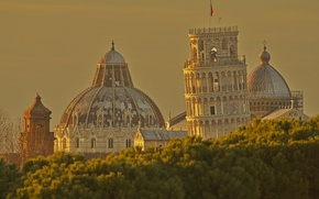 Picture landscape, Italy, Cathedral, Pisa, the leaning tower
