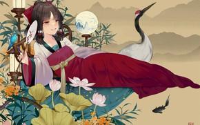Picture girl, anime, Touhou, Touhou