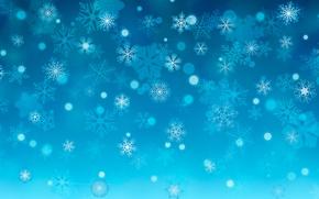 Wallpaper winter, snowflakes, snow