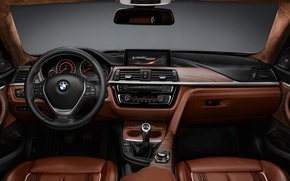 Picture BMW, BMW, the wheel, salon, Coupe, torpedo, F32, 4-Series