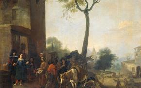 Picture oil, picture, canvas, Harvest Wine, Peter van Lar