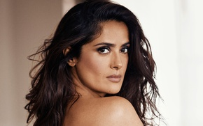 Picture look, portrait, actress, brunette, hairstyle, Salma Hayek, Salma Hayek, Evening Standard, Jason Kim