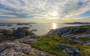 Picture sea, coast, Sweden