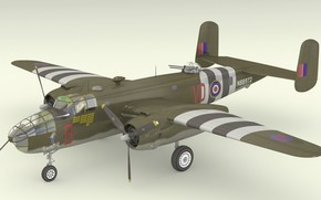 Picture model, Blender, B25 Mitchell
