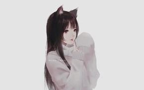 Picture girl, neko, kitty