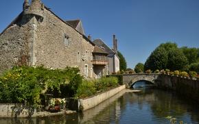 Picture France, Channel, Bridge, France, The bridge, Medieval, Canal, Bonneval, Bonneval
