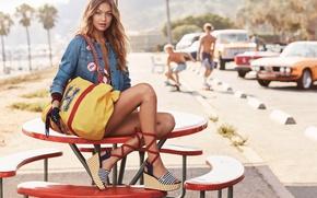 Picture summer, pose, model, Gigi Hadid