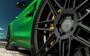 Picture green, wheel, disk, Mercedes GTR