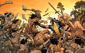 Picture Blonde, Heroes, Costume, Fight, Weapons, Battle, Mask, Wolverine, Logan, Comic, Heroes, Claws, Superheroes, Wolverine, Logan, …