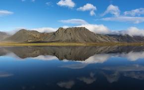 Picture reflection, mountain, Iceland, Iceland, Myrasysla, Borgarnes