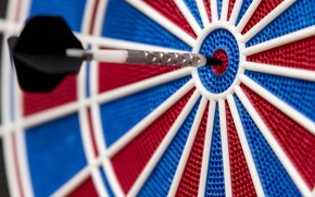 Picture red, blue, dart
