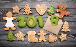 Picture holiday, cookies, New year, Christmas, decor, Xmas, holiday, cookies, New yea