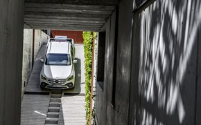 Picture white, wall, vegetation, Mercedes-Benz, shadow, concrete, pickup, cargo, bias, Congress, 2017, X-Class