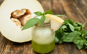 Picture juice, Bank, drink, fresh, melon, spinach