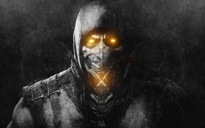 Picture mask, Scorpio, ninja, Mortal Kombat, Mortal Kombat, Scorpion, video game, Mortal Kombat, Mortal Komba X, …